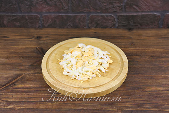 Салат с ветчиной и грибами с фото