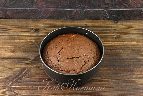 Шоколадно-банановый пирог с фото