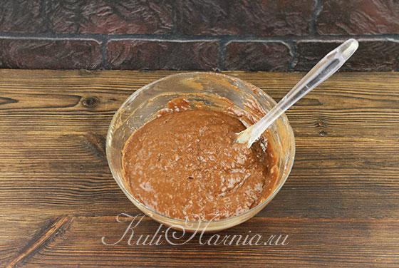 Шоколадный пирог с бананом рецепт