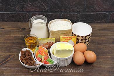 Ингредиенты для александрийского кулича