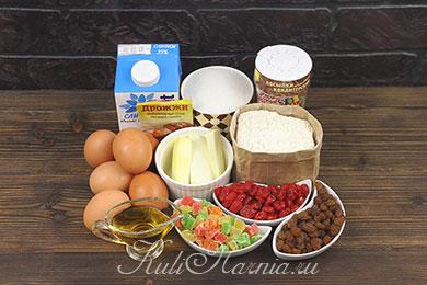 Ингредиенты для кулича на сливках
