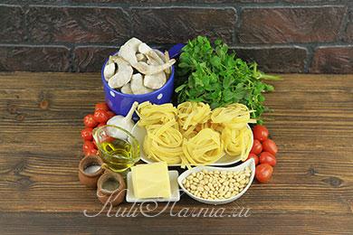 Ингредиенты для пасты песто