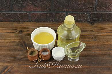 Ингредиенты для постного майонеза