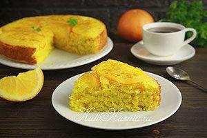 Постный апельсиновый манник рецепт