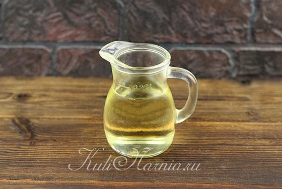 Растительное масло для постного майонеза