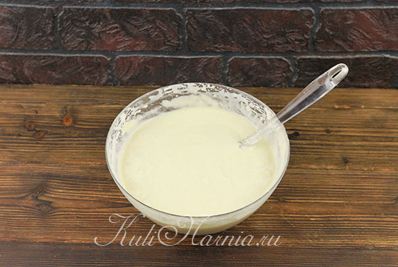 Размешиваем тесто для торта три молока
