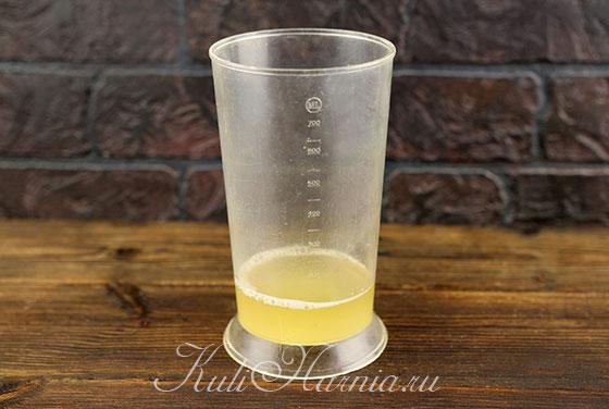 Сок фасоли для постного майонеза