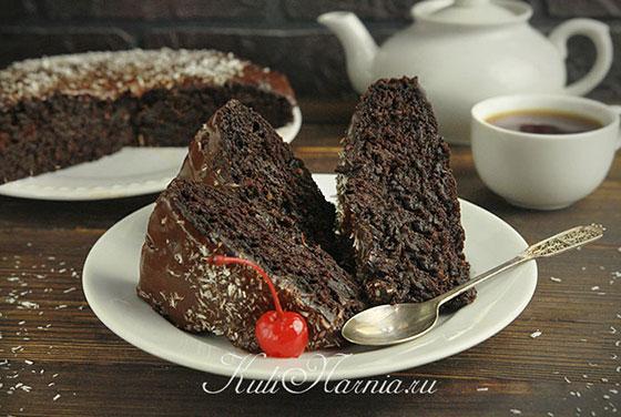Сумасшедший пирог Crazy cake в разрезе