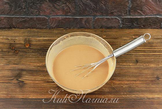 Тесто для шоколадных блинов на молоке с какао