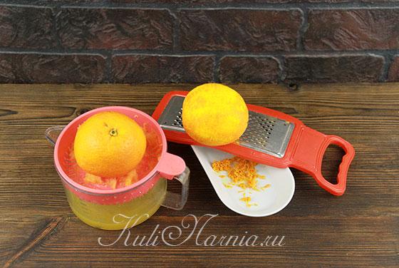 Выжимаем апельсиновый сок для манника
