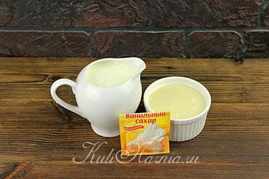Ингредиенты для домашнего мороженого из сливок