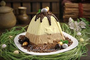 Заварная творожная пасха с шоколадом рецепт