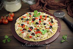 Быстрая пицца на сковороде рецепт