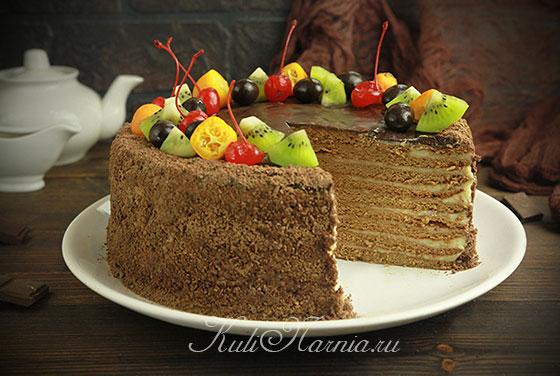 Классический торт Спартак в разрезе