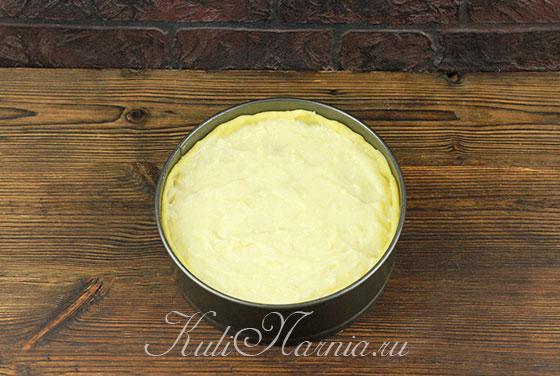 Рецепт пирога с яблоками и кремом