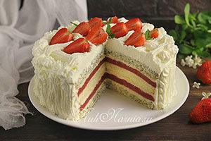 Торт Клубничный поцелуй рецепт