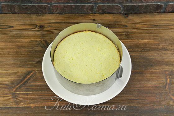 Выкладываем светлый бисквит без мака
