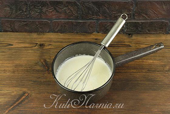 Заварной крем для пирога