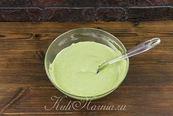 Добавляем мятный крем к сливкам