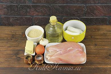 Ингредиенты для котлет из курицы и творога