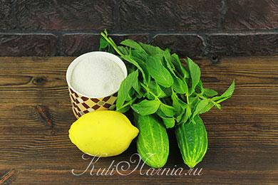 Ингредиенты для огуречного лимонада