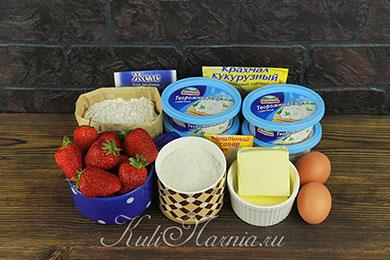 Ингредиенты для тарта с клубникой