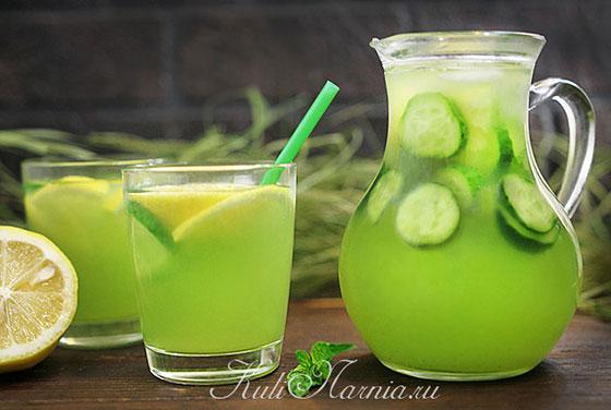 Огуречный лимонад готов