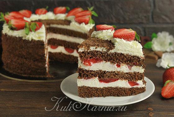 Торт Клубника со сливками готов