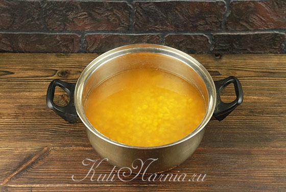 Гороховое пюре при варке должно быть покрыто водой