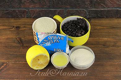 Ингредиенты для черничного зефира