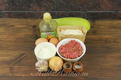 Ингредиенты для оладий из кабачков