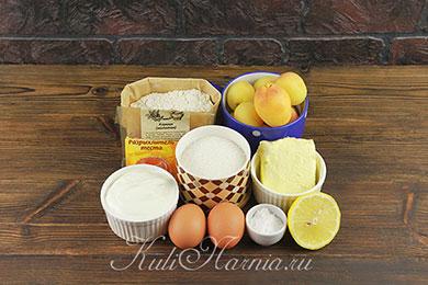 Ингредиенты для пирога с абрикосами в духовке