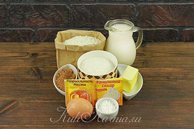 Ингредиенты для шоколадных панкейков