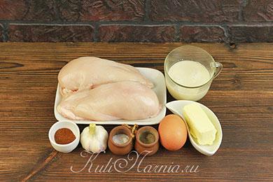 Ингредиенты для сосисок из курицы