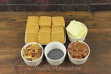 Ингредиенты для торта Муравейник из печенья