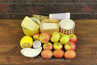 Ингредиенты для яблочного пирога с меренгой