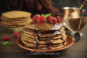 Шоколадные панкейки рецепт