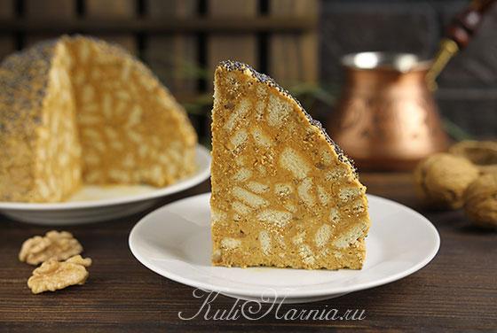 Торт Муравейник из печенья со сгущенкой готов