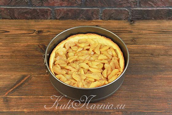 Заполняем корзину из теста яблочной начинкой