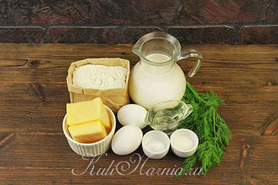 Ингредиенты для блинов с сыром