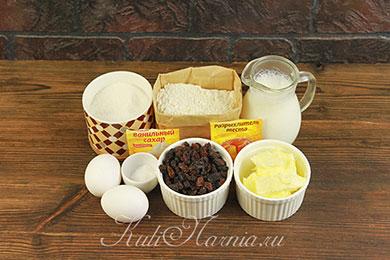 Ингредиенты для кекса на кефире