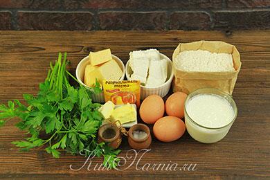 Ингредиенты для ленивых хачапури с сыром