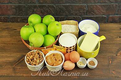 Ингредиенты для яблочного торта