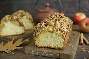 Кекс с яблоками рецепт