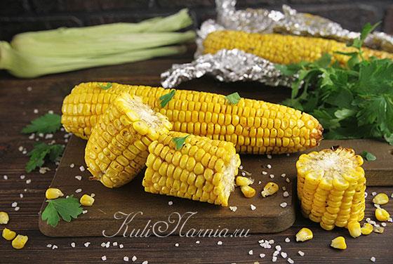 Кукуруза в духовке готова