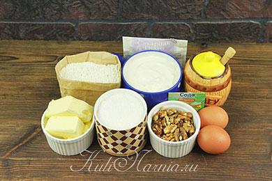 Ингредиенты для медовика без раскатки