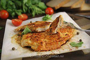 Куриное филе в пергаменте на сковороде рецепт