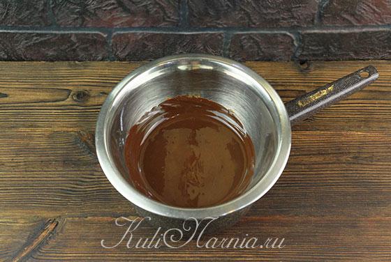 Шоколад растапливаем на водяной бане