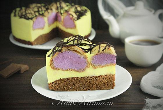 Торт из профитролей готов