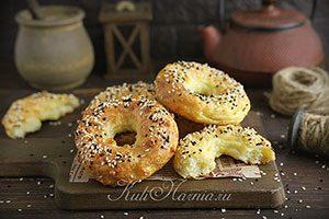 Творожные бублики с сыром рецепт